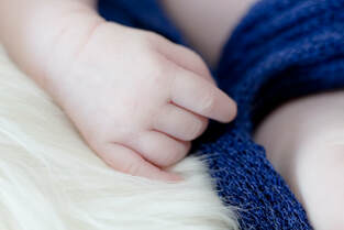 Closeup of baby's hand
